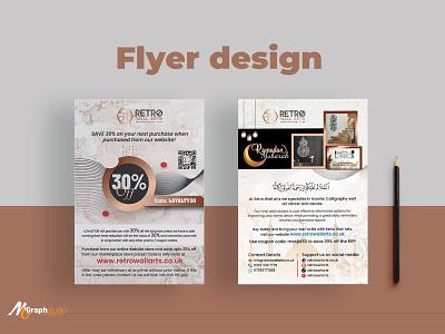 Flyer design for wallpaper company flyer design leaflet design print materils flyer artwork cretive islamic flyer template poster leaflet flyer