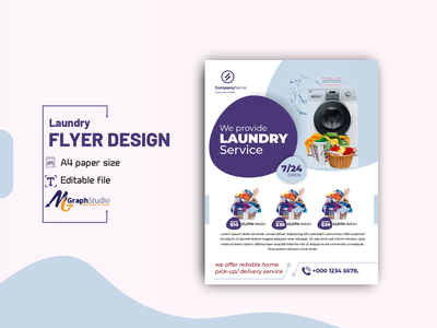 Laundry or cloth washing service flyer design template professional poster design flyer template cleaning flyer washing flyer laundry flyer cloth washing laundry leaflet