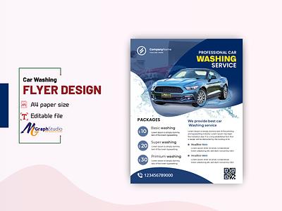 Car washing flyer design template detailing car cleaning car washing creative business flyer flyer cretive print materils leaflet flyer template poster