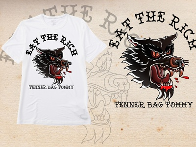 eat the rich T-shirt design traditional tattoo design thsirt tattoo art traditionaltattoo tattoos oldschool