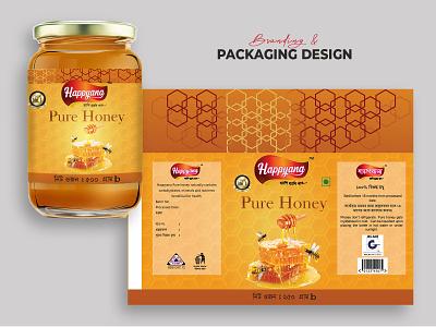 Delicious Honey Ad Glass Jar with Honeycomb ingredient branding advertising minimal new unique creative