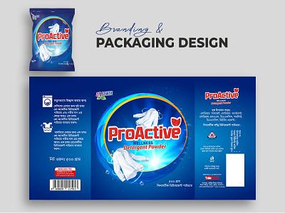 Detergent Powder Package Design Template packaging