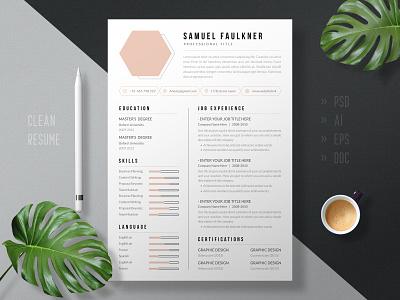Modern & Minimal Resume Design Template powerpoint