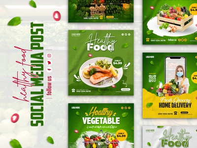 Healthy vegetable food promotion instagram post social media post helthy helth vegetable