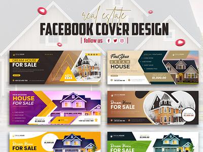 Real estate Business Facebook cover & Banner Design social media post design branding advertising new minimal unique creative web banner