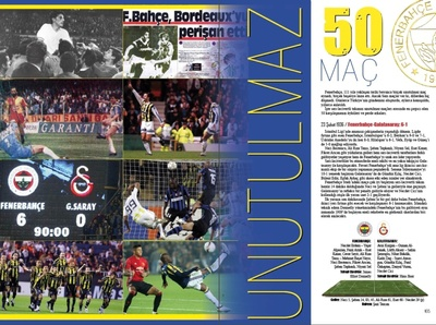 A few pages from the book I designed for Fenerbahçe SK. page layout books graphic design page design branding typography design