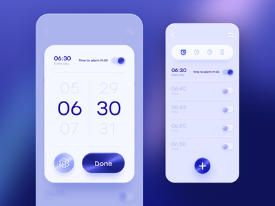 Time typography clean graphic design flat touchflow minimal app mobile ui ux design