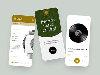 Vinil market market player ui player concept mob mobile uxdesign uidesign ux ui app concept design app design app
