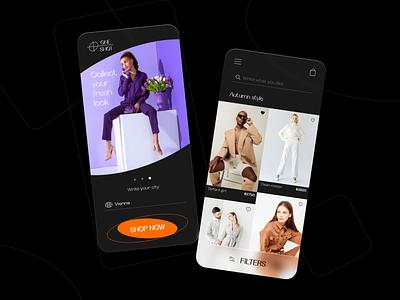 Look magazine black brand concept application app ui clothes look uxdesign uidesign app design app design touchflow ui ux