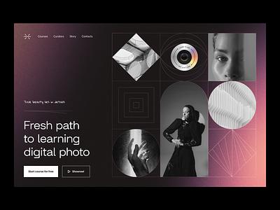 edtech for photography: home page ux design ui design ux ui education edtech landing page landing web web page web design