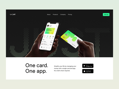 digital bank: home page app design app ux ui web web page product page design product design product page fintech finance marketing page hero page home page landing page