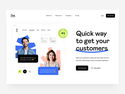 web design: landing page support business team sales communication customers service platform contact center saas hero section web design