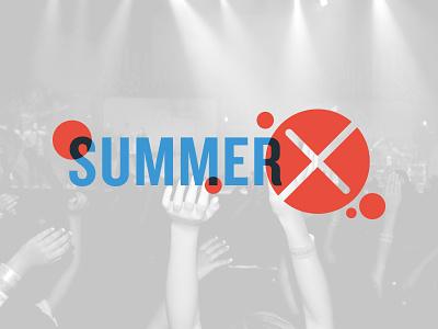 SummerX overprint bubbles knockout x kids church vacation bible school summer