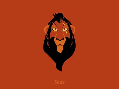Scar illustration villains disney scar lion king lion