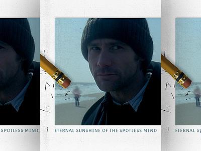ETERNAL SUNSHINE OF THE SPOTLESS MIND montauk beach film clementine joel pencil erase movie poster movie jim carrey