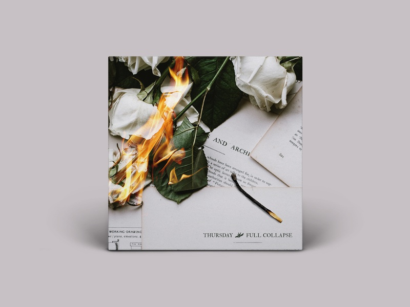 TBT - FULL COLLAPSE flame match throwback flower fire redesign album cover music thursday