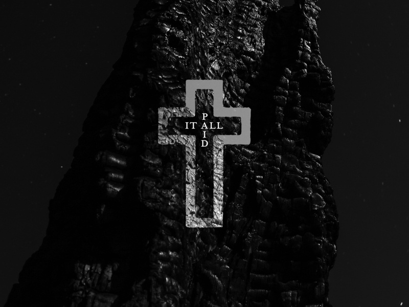 PAID IT ALL church design typography icon illustration easter crucifixion crucifix texture rock paid cross jesus