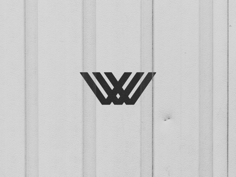 WV texture industrial corporation metal icon letters initials logo monogram