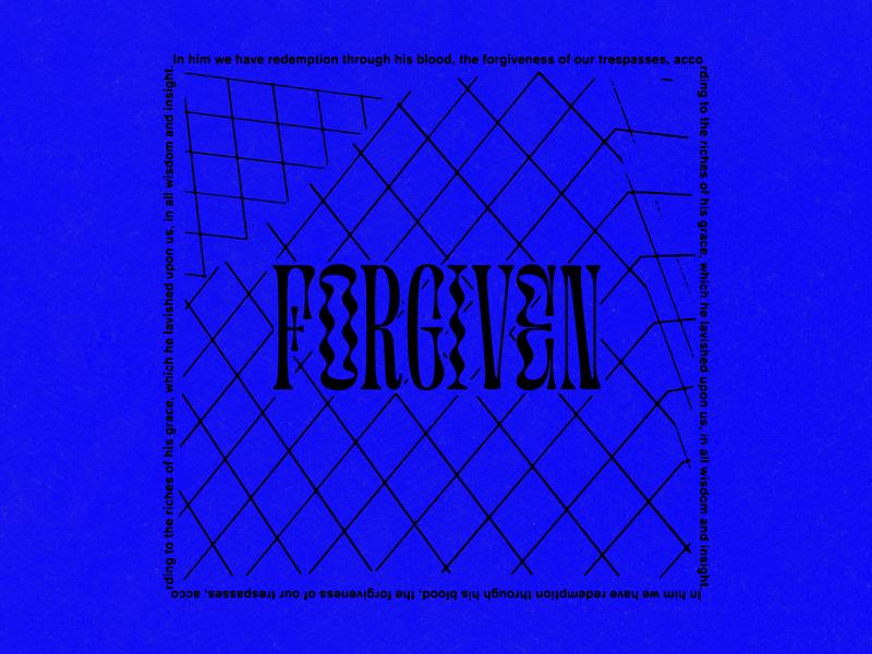 FORGIVEN fixion grace blood bible verse bible pattern type forgiveness vector jesus church design typography