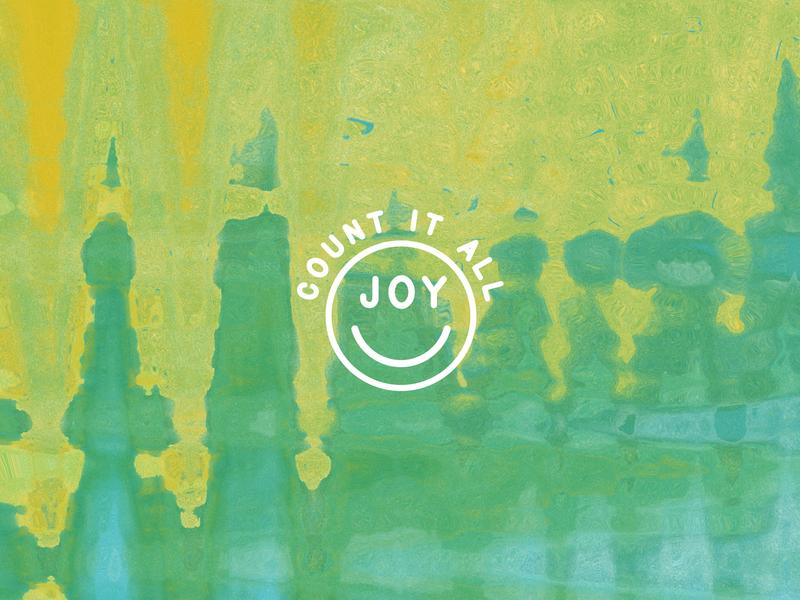 COUNT IT ALL JOY icon illustration tie dye typography church design happiness jesus joy smile emoji smiley