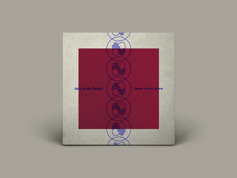 INTO YOUR HANDS illustration typography music throwback vinyl rock hands album art album cover album record terra terra terra