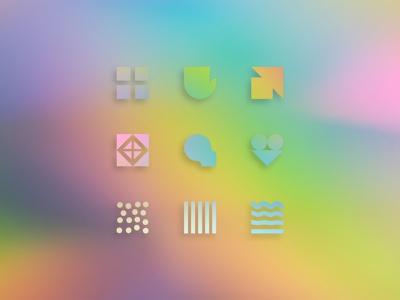 ENNEAGRAM SYMBOLS gradient rainbow arrows logos types personality icons symbols enneagram