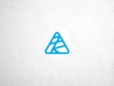 T&CO mark retro rounded corners lines triangle graveyard branding line art icon logo