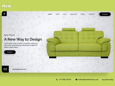 Sofa Banner Design website app flat ux web ui design