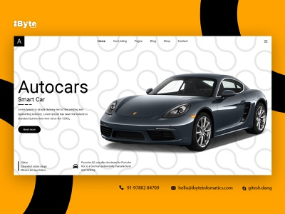 Auto Car banner design vector logo branding flat app ui banner design
