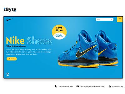 Nike Shoes Design flat vector logo icon banner branding design