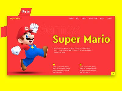 Super Mario UI/UX Template graphicsdesigning typography graphicsdesigner graphicsdesign uxdesign ui design design ux uiux ui