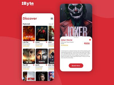 Movie App UI Design user experience userinterface icon banner ux ui design