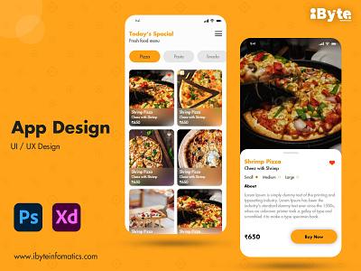 Food App Deisgn ux ui vector flat web illustration branding icon logodesign website design template design banner deisgn ui ux