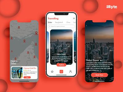 Travelling Application Design app website vector logo flat branding icon ui ux design