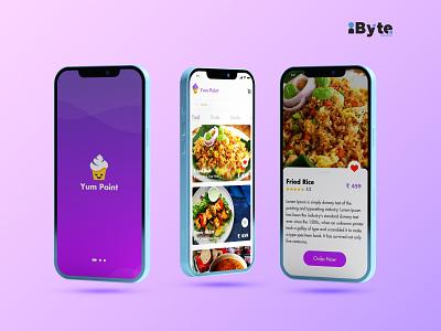 Food App Design Concept branding ux ui typography web minimal vector flat icon design