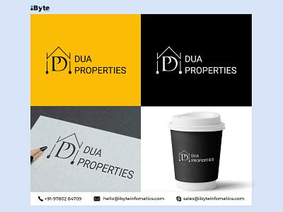 Dua Properties Logo Design website web banner flat icon logo design