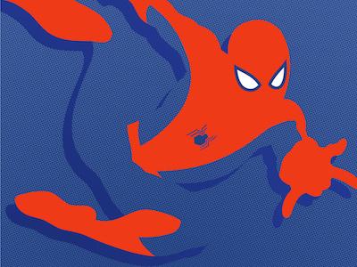 Spiderman illustration comic book comic book style spiderman