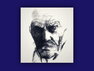 Tough inspiration mood dark simple angry powerful charcoal pencil art graphite traditional character portrait sketch black hand drawn hand illustration drawing sketchbook