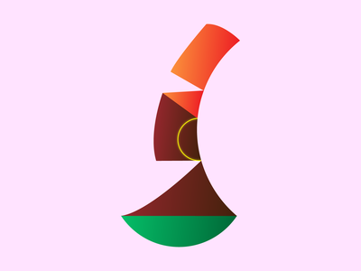 Shapes logo 2d flat woman figure pose character africa culture lady shapes concept abstract graphic design art simple minimal illustrator illustration design