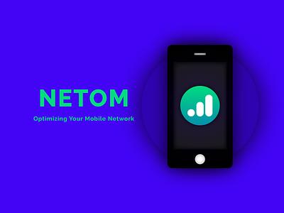 NETOM promo illustrator simple student project visual design app project app design mobile app branding ui logo graphic design minimal design