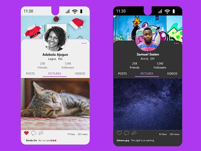 user profile 006 ux ui minimal design profile dailyui
