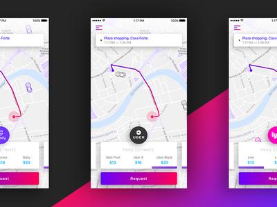 Cab.all | Request screen