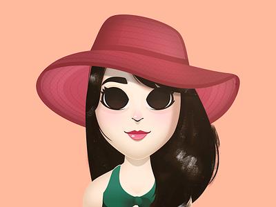 Cutetoons Girl 02 cartoon character huion girl pink vector coreldraw illustration