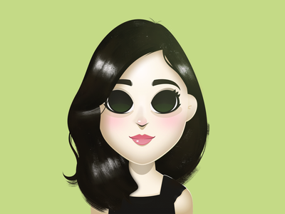Cutetoons Girl 03 cartoon character girl green vector coreldraw illustration