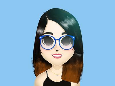 Cutetoons Girl 05 girl character blue vector coreldraw illustration