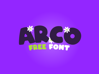 ARCO Free Font free free fonts coreldraw letters flowers typeface design font free font typographic