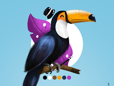 Toucans Illustration animals design illustration toucans