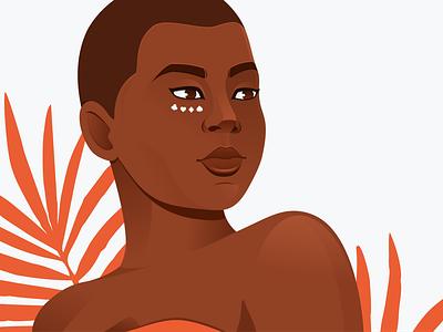 Illustrated Girls No.6 afro woman illustration vector illustration girl coreldraw illustration