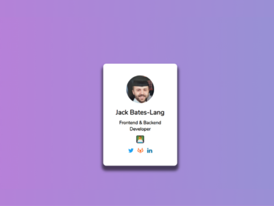 Personal Card design website minimal ux web illustration ui