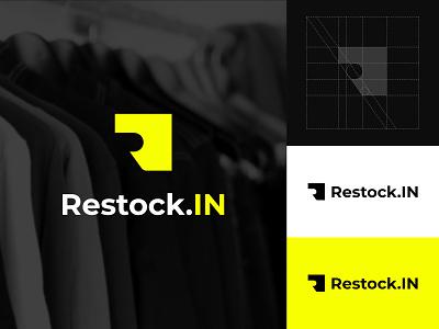 My Work For Restock.IN illustration maskulin modern design brand design brand simple logo creative brand identity simple clean branding graphic design logo